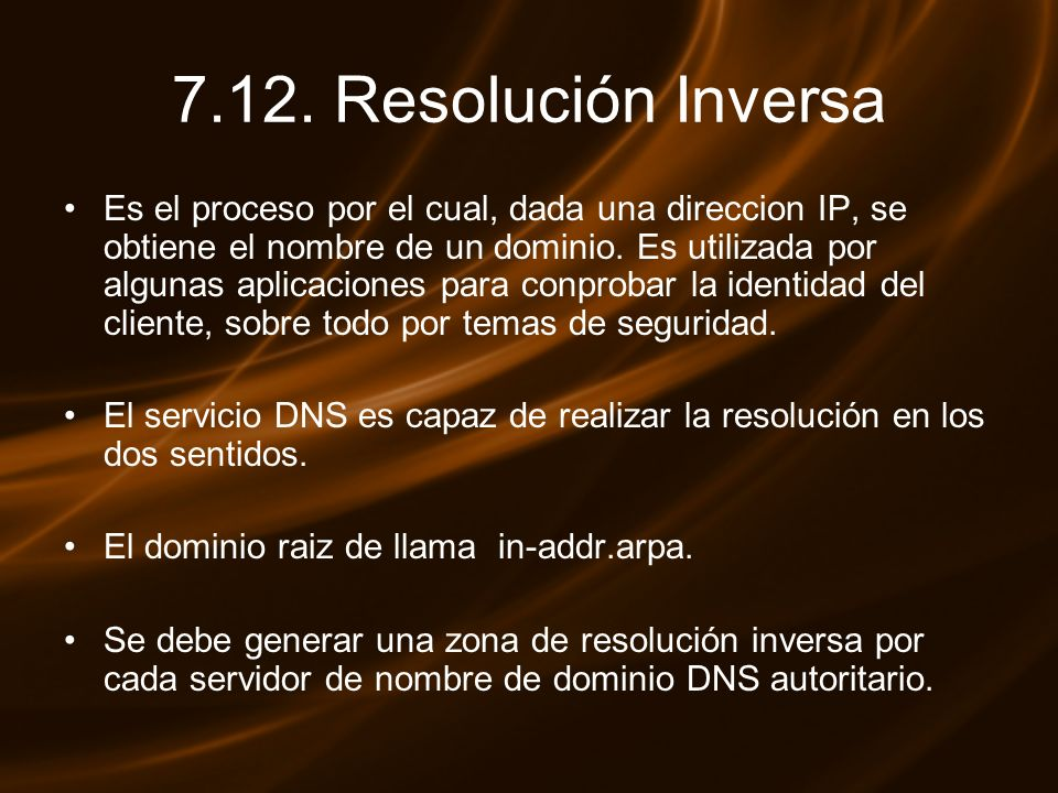 7.12. Resolución Inversa