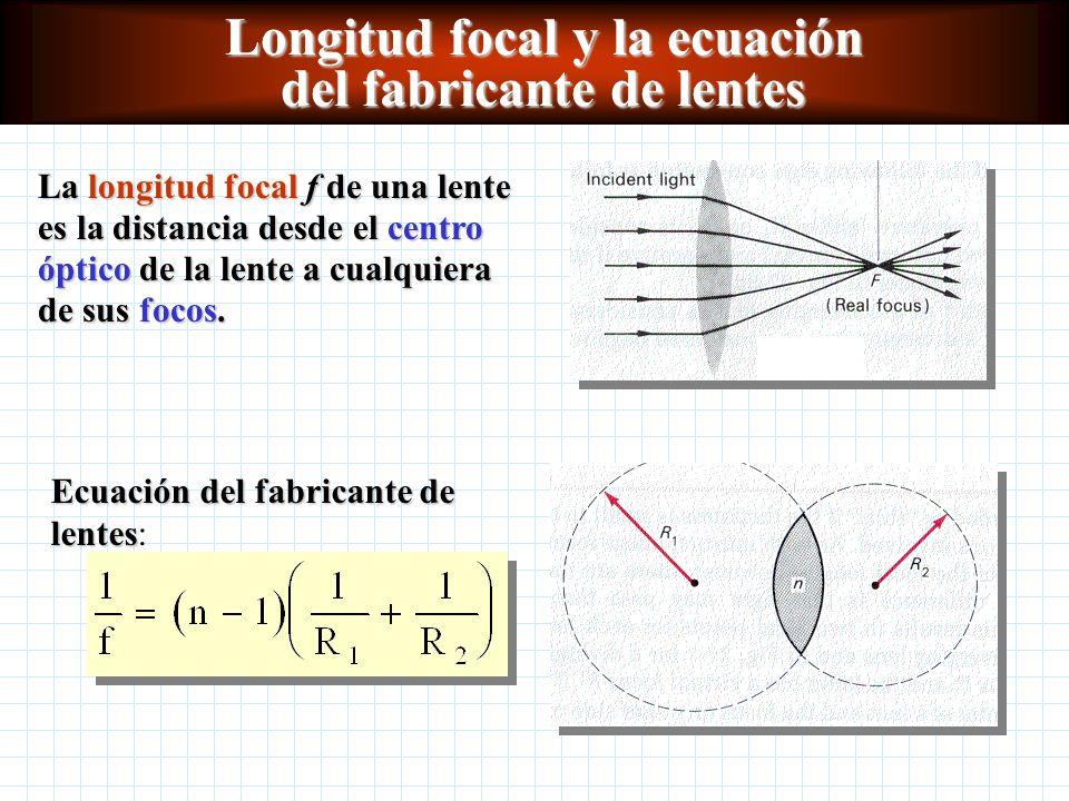 7bf1be8ebb Longitud focal y la ecuación del fabricante de lentes