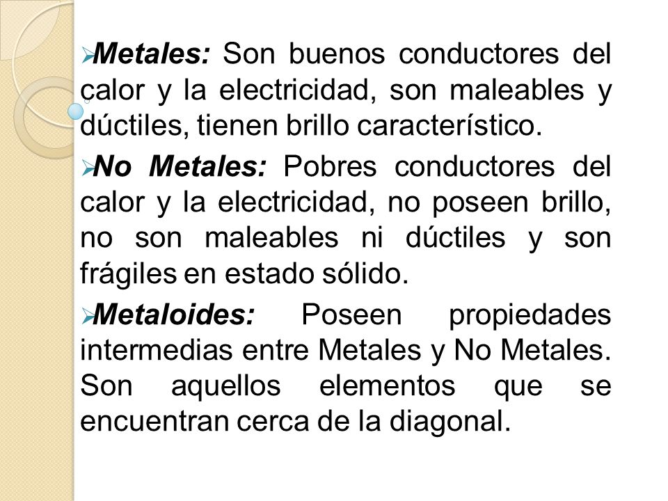 Clasificaciones peridicas iniciales ppt video online descargar 16 metales urtaz Image collections