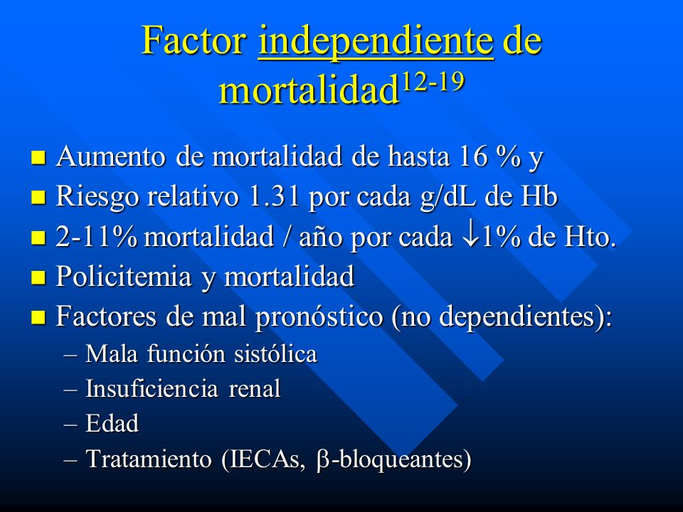 Factor independiente de mortalidad12-19