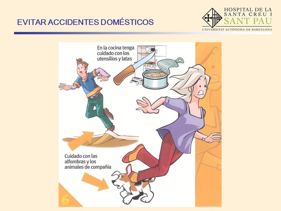 EVITAR ACCIDENTES DOMÉSTICOS