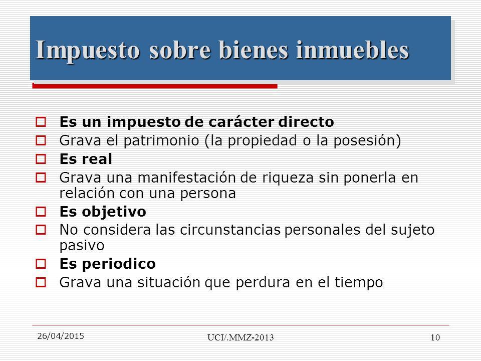 Imposicion inmobiliaria master marietta montero ppt for Impuesto de bienes muebles