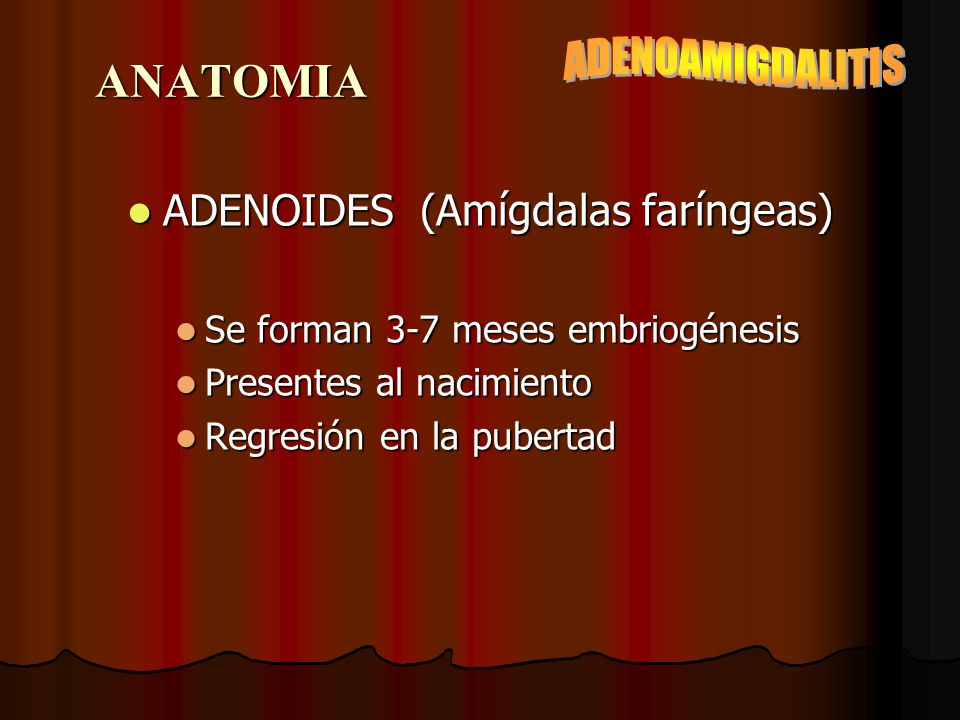 ADENOAMIGDALITIS DR. EDGARDO CORNEJO ROSALES. - ppt descargar