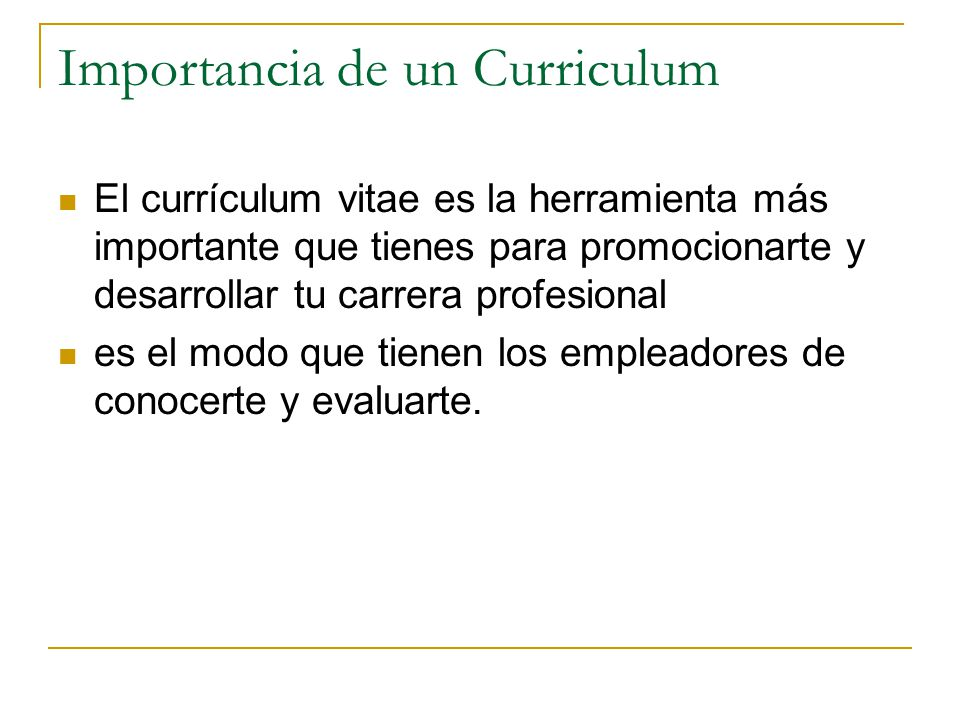 Curriculum Vitae Ppt Video Online Descargar