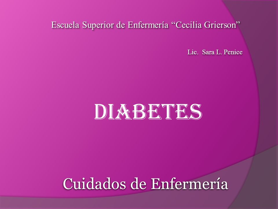 diagnosticos de enfermeria diabetes tipo 1