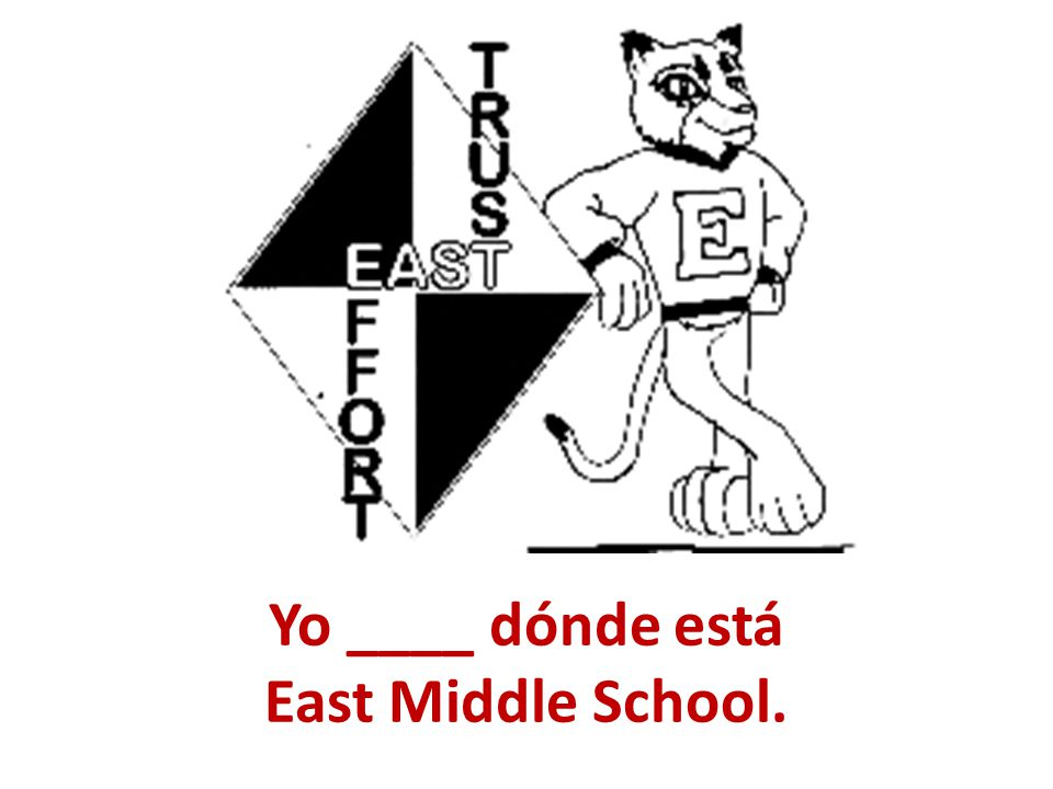 Yo ____ dónde está East Middle School.