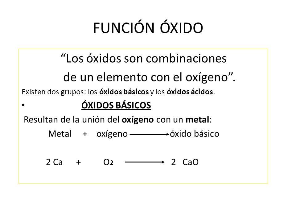 óxidos Son Combinaciones Binarias De Oxígeno Con Otro Elemento Ppt Video Online Descargar