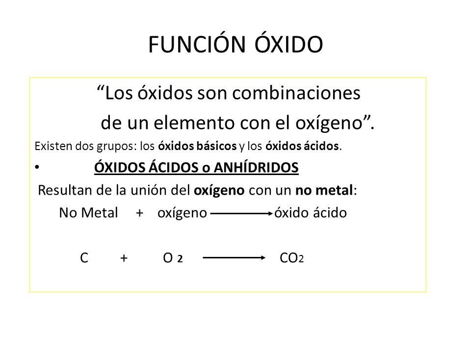 óxidos Son Combinaciones Binarias De Oxígeno Con Otro Elemento