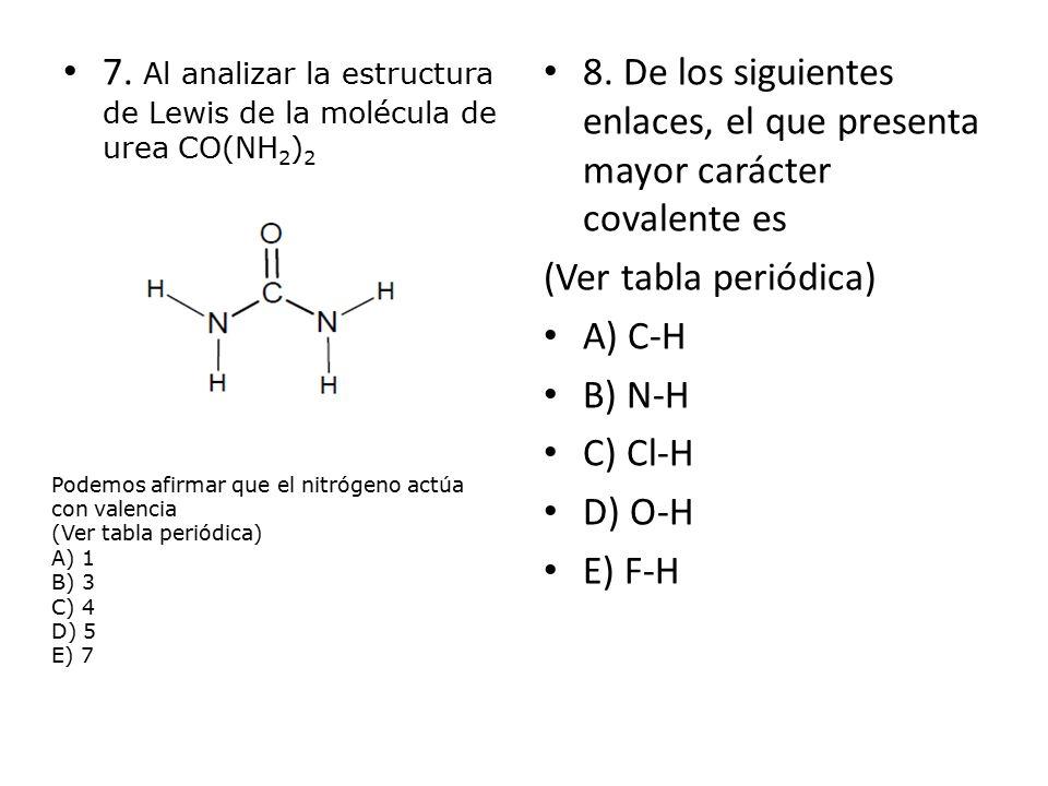 Profesora encarnacin cofr s ppt descargar al analizar la estructura de lewis de la molcula de urea conh2 urtaz Images