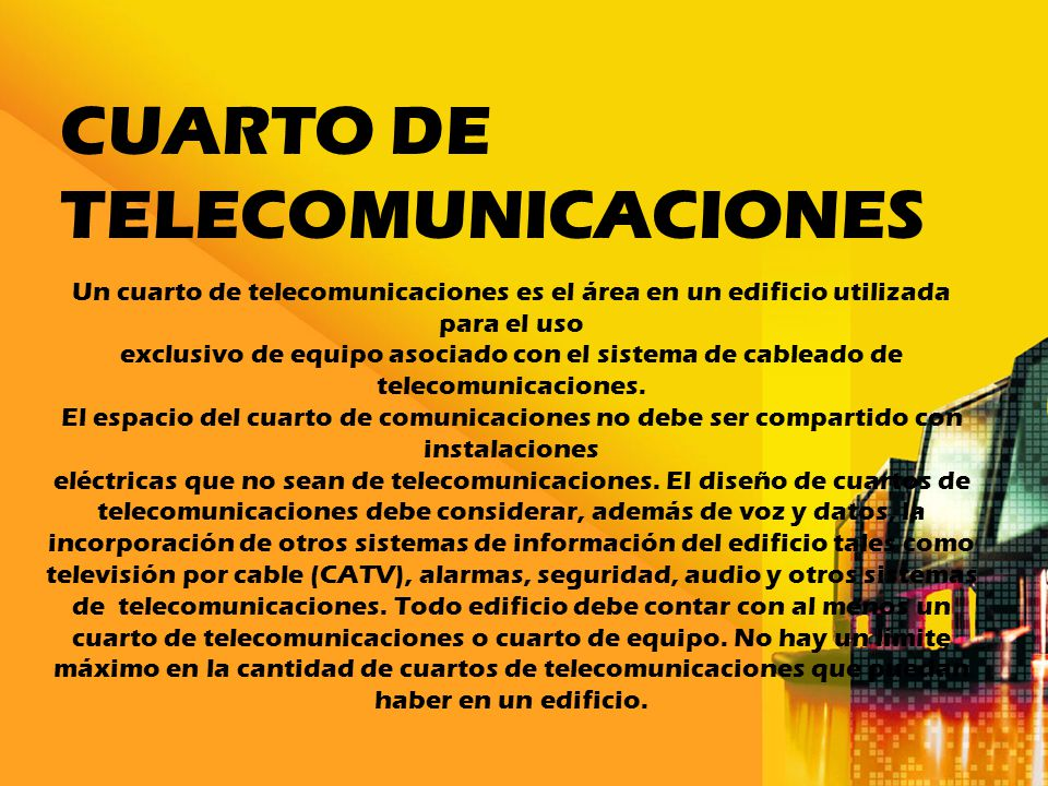 Cuarto de Telecomunicaciones - ppt descargar
