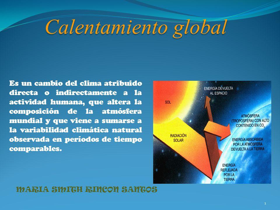 calentamiento global es un cambio del clima atribuido