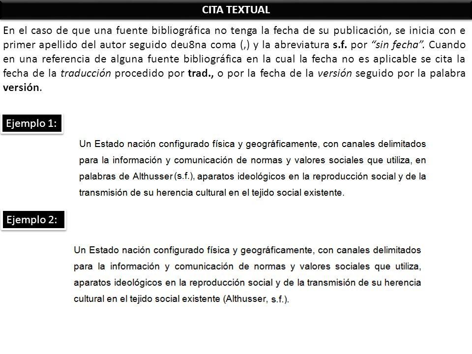 Cita De Publicaciones Sin Fecha Ejemplo Descargar Libros