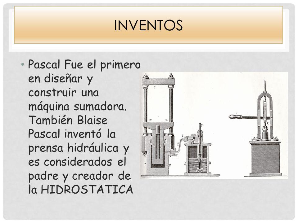 invenciones blaise pascal