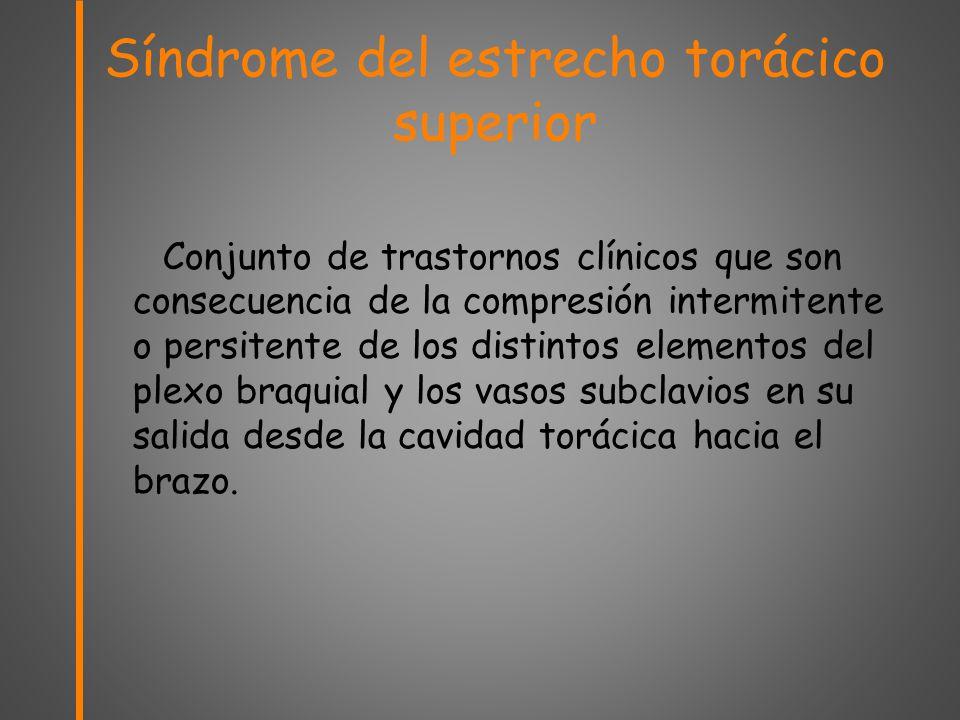 Angio-TC en el síndrome del estrecho torácico superior (SETS) - ppt ...