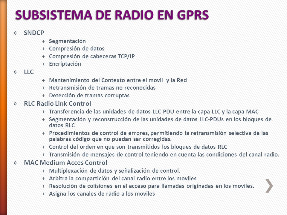 General Packet Radio Service (Servicio general de paquetes vía radio ...