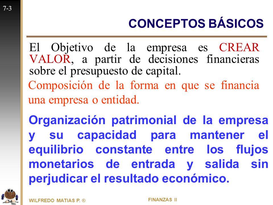 7 Estructura De Capital Conceptos Básicos Capítulo Siete
