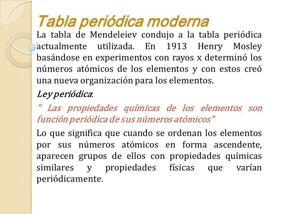 Clasificaciones peridicas iniciales ppt descargar 11 tabla peridica moderna urtaz Images
