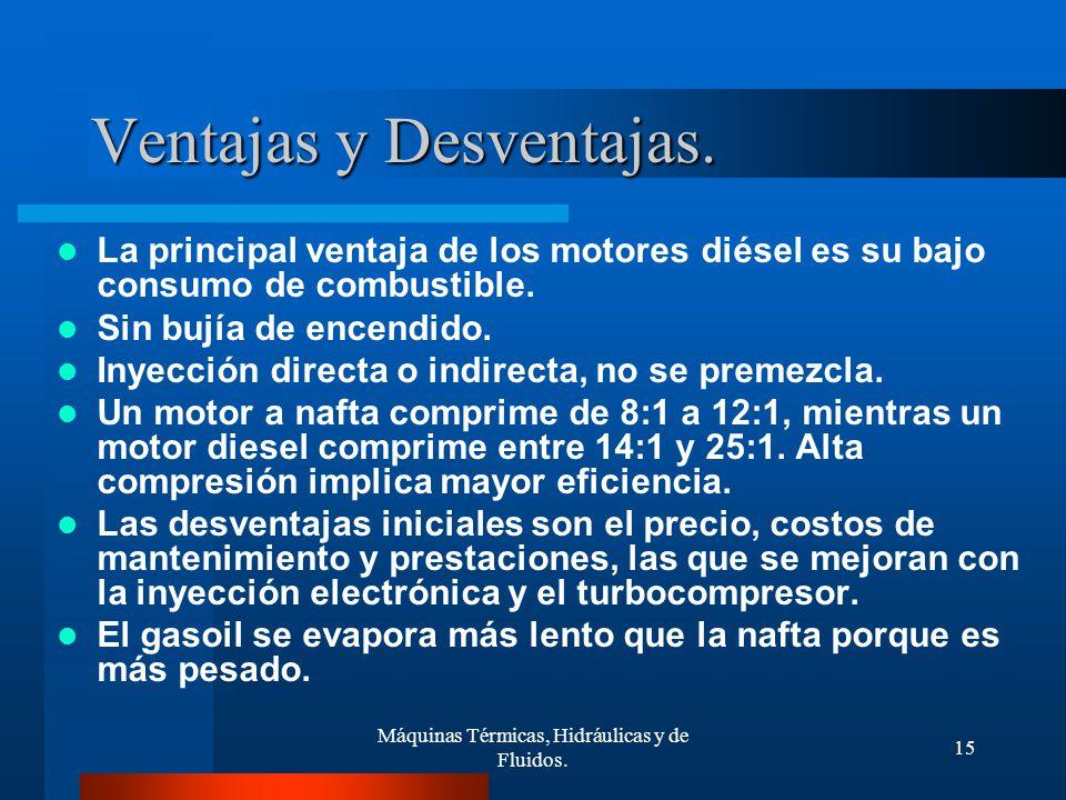 Ventajas y desventajas del motor diésel y motor a gasolina