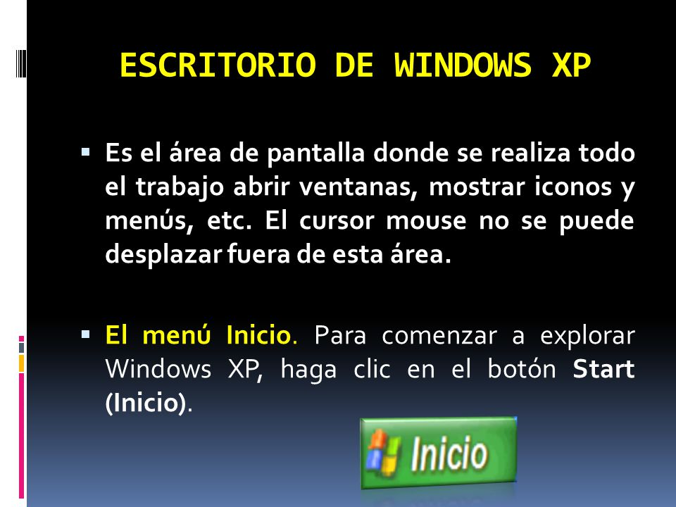 ESCRITORIO DE WINDOWS XP