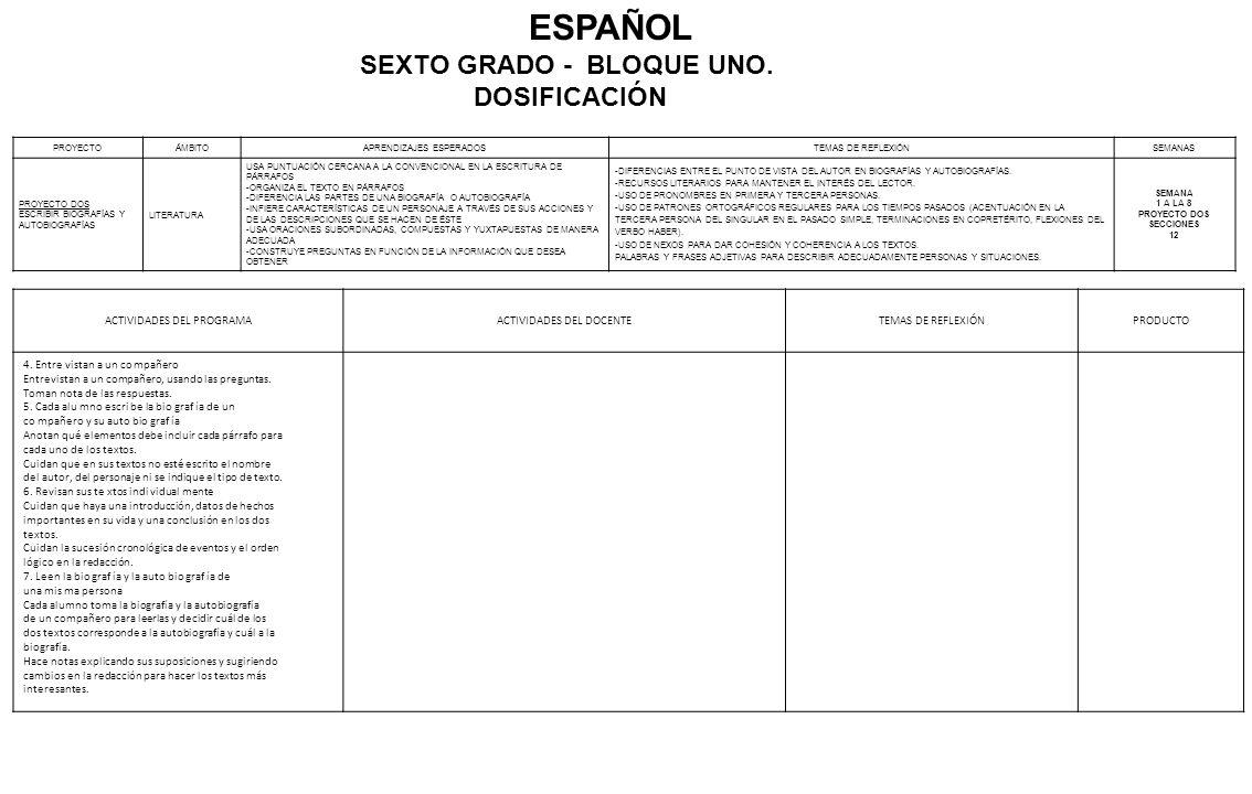PLANEACIÓN DIDÁCTICA ESPAÑOL SEXTO GRADO CICLO ESCOLAR - ppt video ...