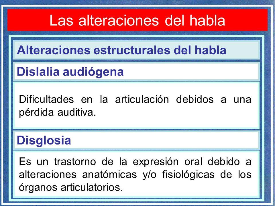 ALTERACIONES DEL HABLA - ppt descargar