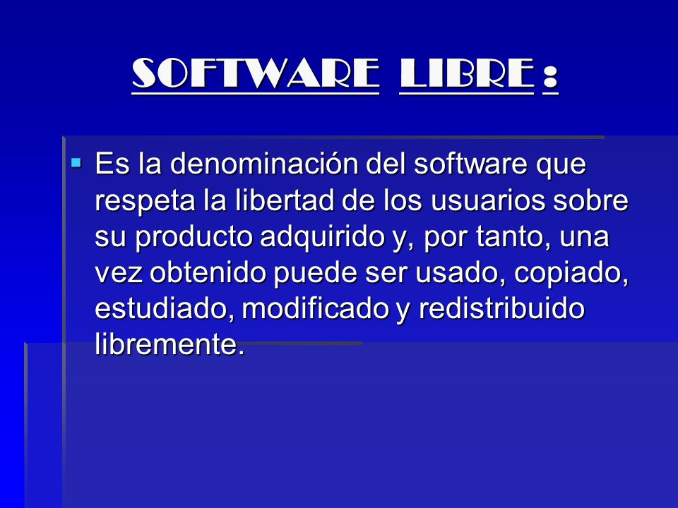 SOFTWARE LIBRE :