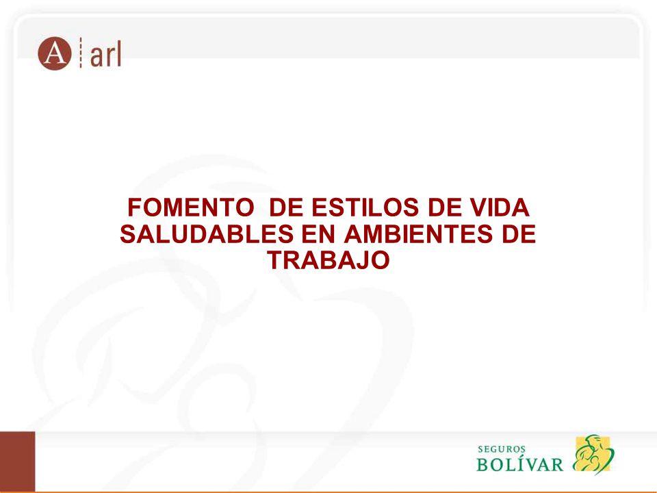 FOMENTO DE ESTILOS DE VIDA SALUDABLES EN AMBIENTES DE TRABAJO - ppt ...