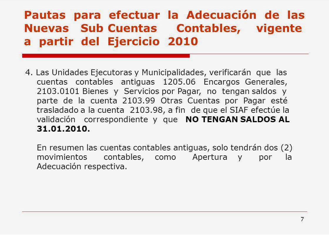 SUB CUENTAS CONTABLES INCORPORADAS PARA EL EJERCICIO ppt descargar