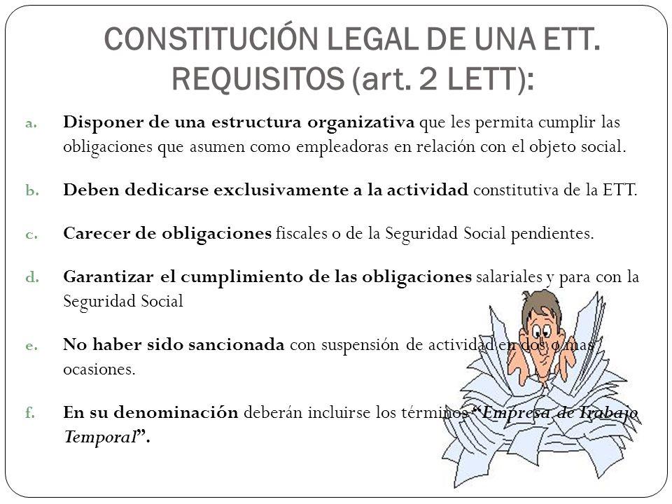 Regimen Juridico De Las Empresas De Trabajo Temporal Ppt Descargar