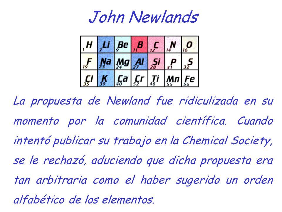 La historia de la tabla peridica moderna ppt descargar john newlands urtaz Images