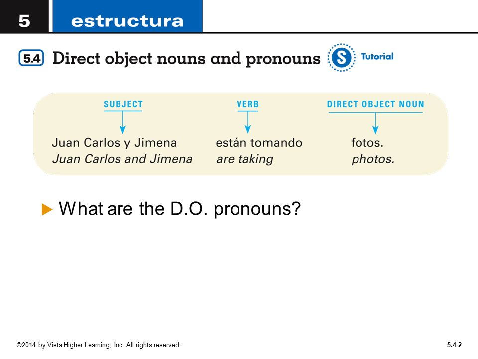 What are the D.O. pronouns