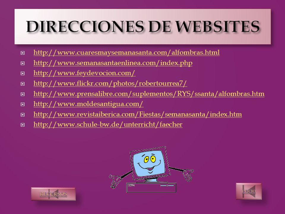 semana santa webquest