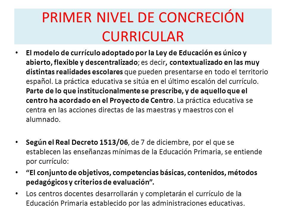 PRIMER NIVEL DE CONCRECIÓN CURRICULAR - ppt descargar