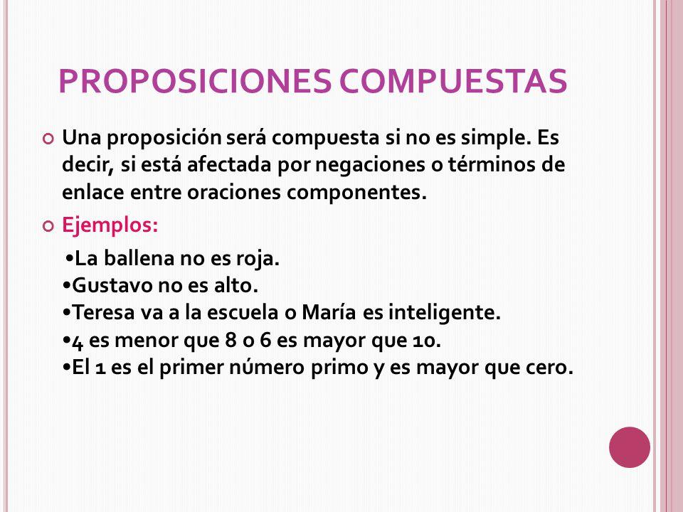 Definición Y Tipos De Propocisiones Ppt Descargar