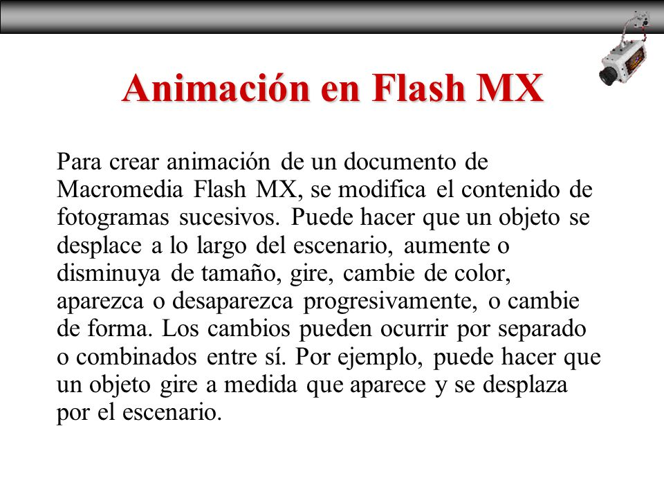 Animación en Flash MX Conceptos Basicos. - ppt descargar