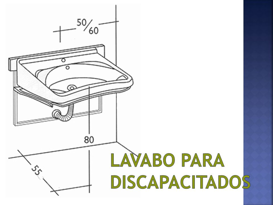 Discapacitados en espacios comerciales lucia amiel ppt for Altura lavabo minusvalidos