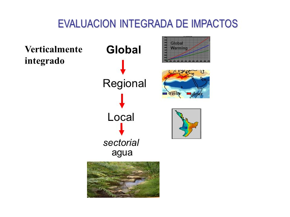 Global Regional Local Verticalmente integrado sectorial agua