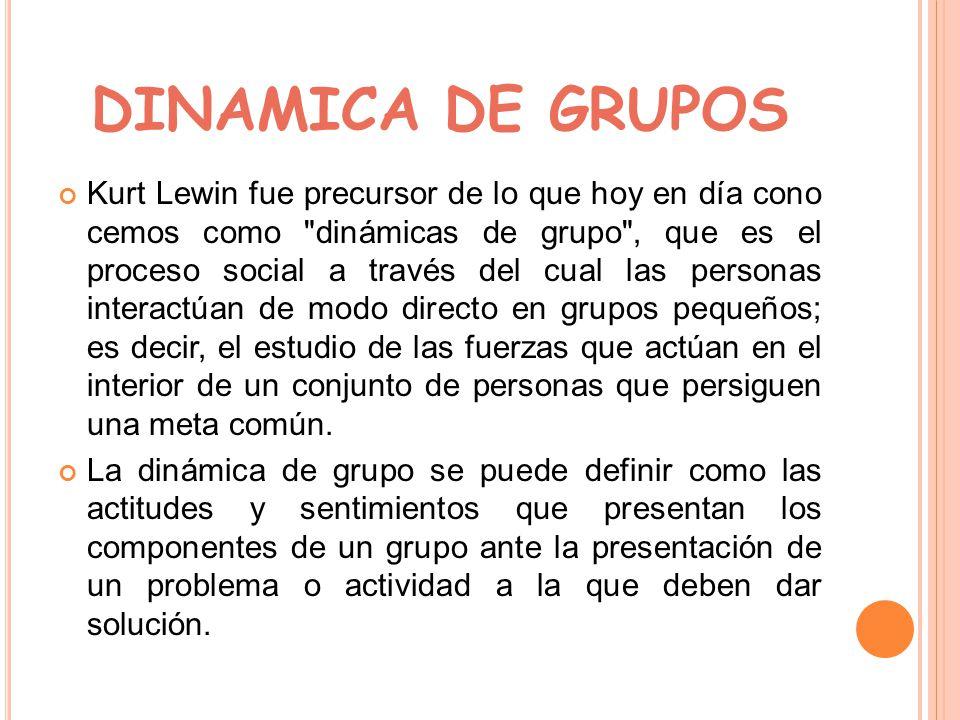 Kurt Lewin Teoria Del Campo Dinamica De Grupo Ppt Descargar