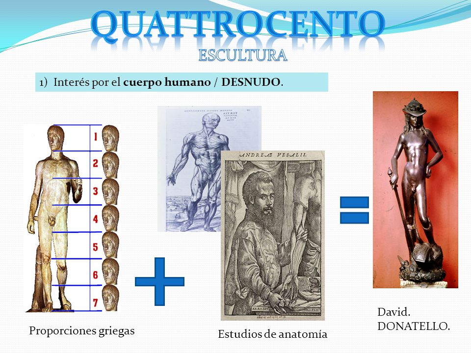 Quattrocento ESCULTURA 1) Interés por el cuerpo humano / DESNUDO ...