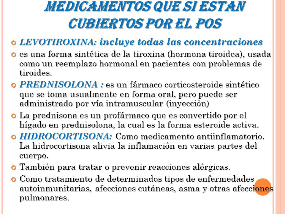 SISTEMA ENDOCRINO MEDICAMENTOS ( POS). - ppt video online