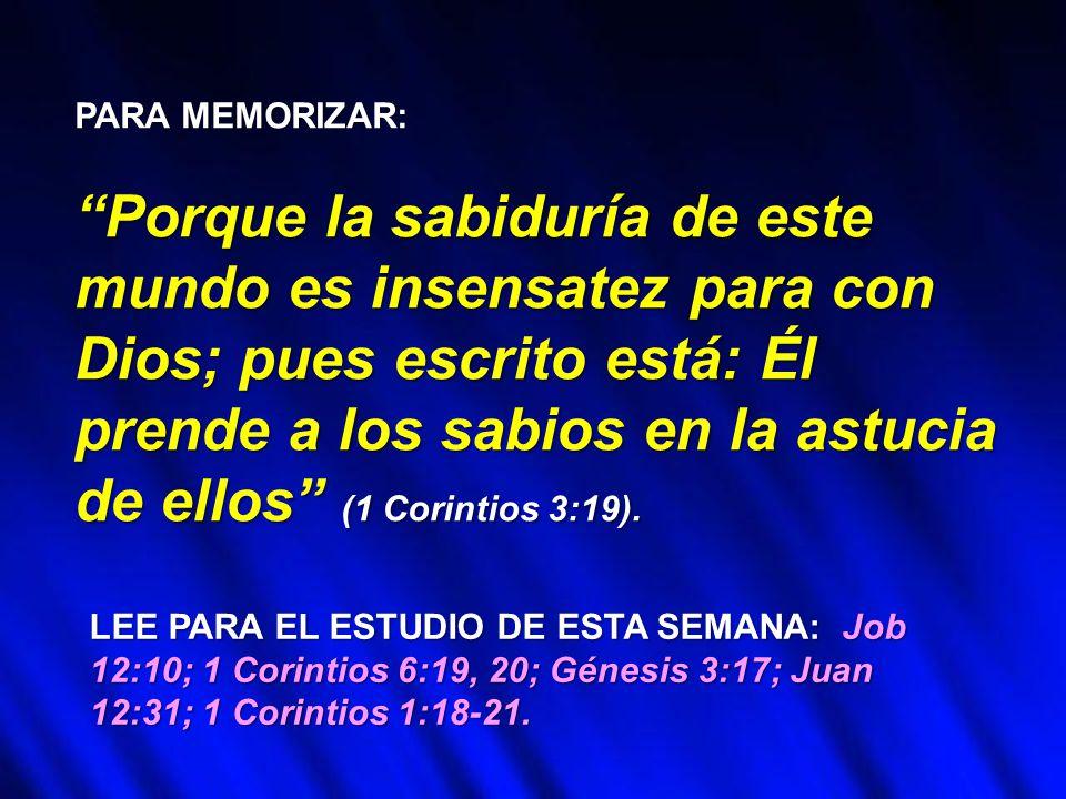 Resultado de imagen para 1 CORINTIOS 3:19