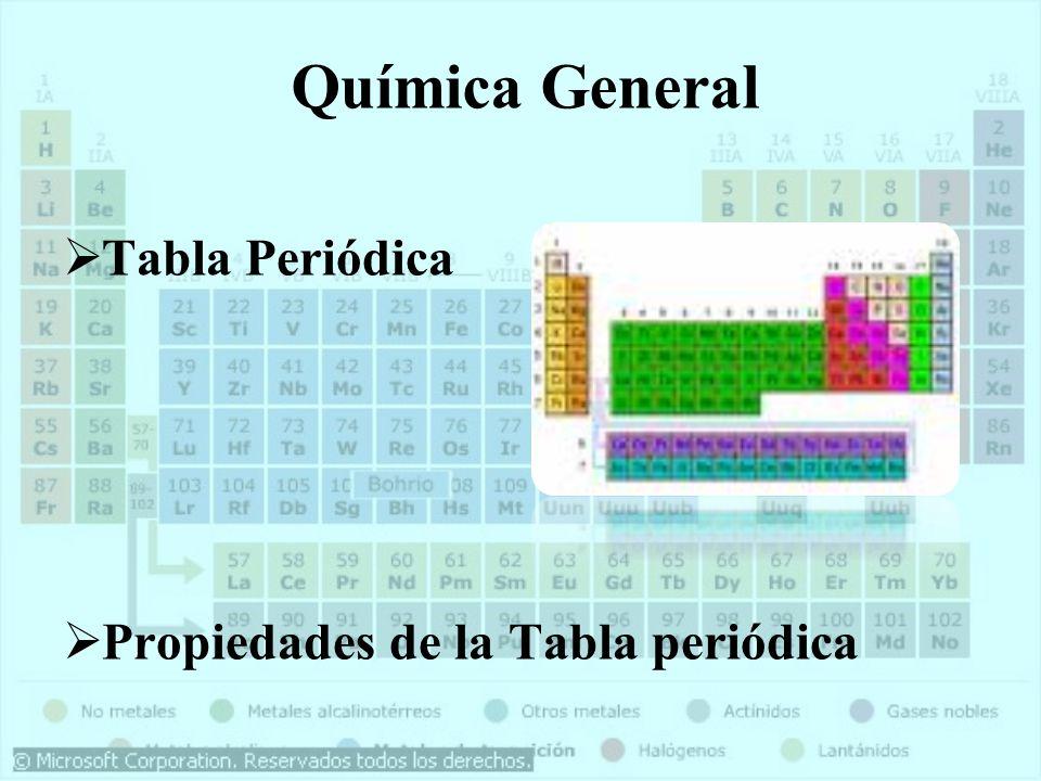Qumica general tabla periodica ppt descargar 31 qumica general tabla peridica propiedades de la tabla peridica urtaz Images