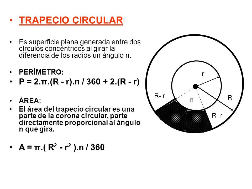 Resultado de imagen de trapecio circular formula perimetro