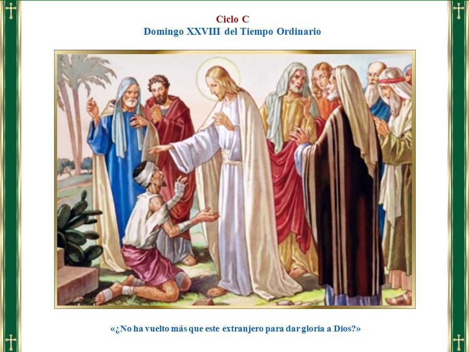 Resultado de imagen para xxviii domingo del tiempo ordinario ciclo c