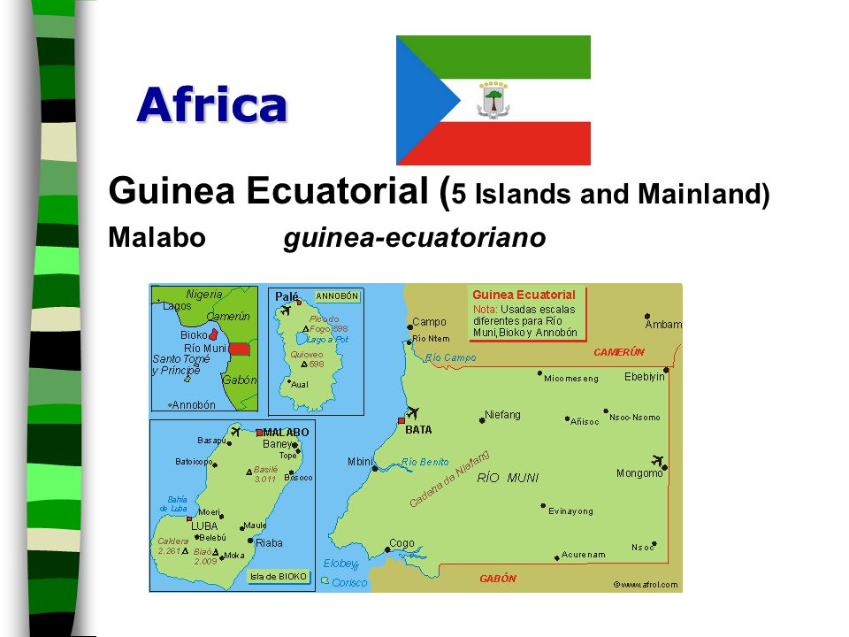 Africa Africa Guinea Ecuatorial (5 Islands and Mainland)