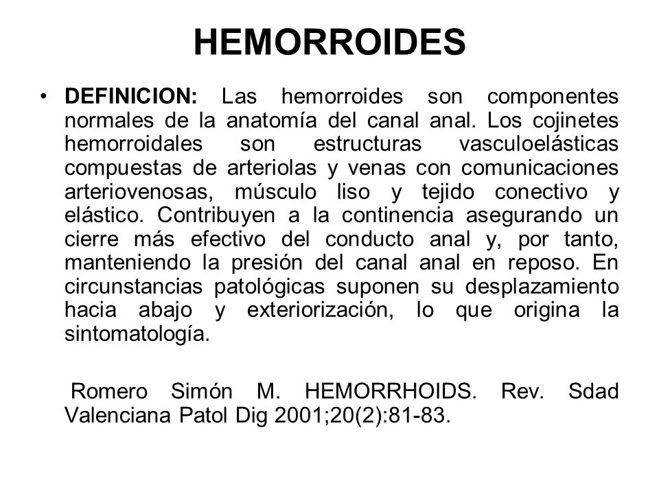 HEMORROIDES. DR. PEDRO ARAQUE URREA. CARACAS JUNIO ppt video online ...