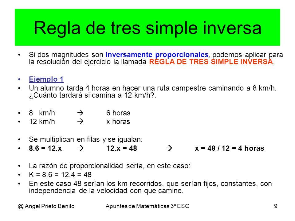 Image result for proporcionalidad inversa regla de 3