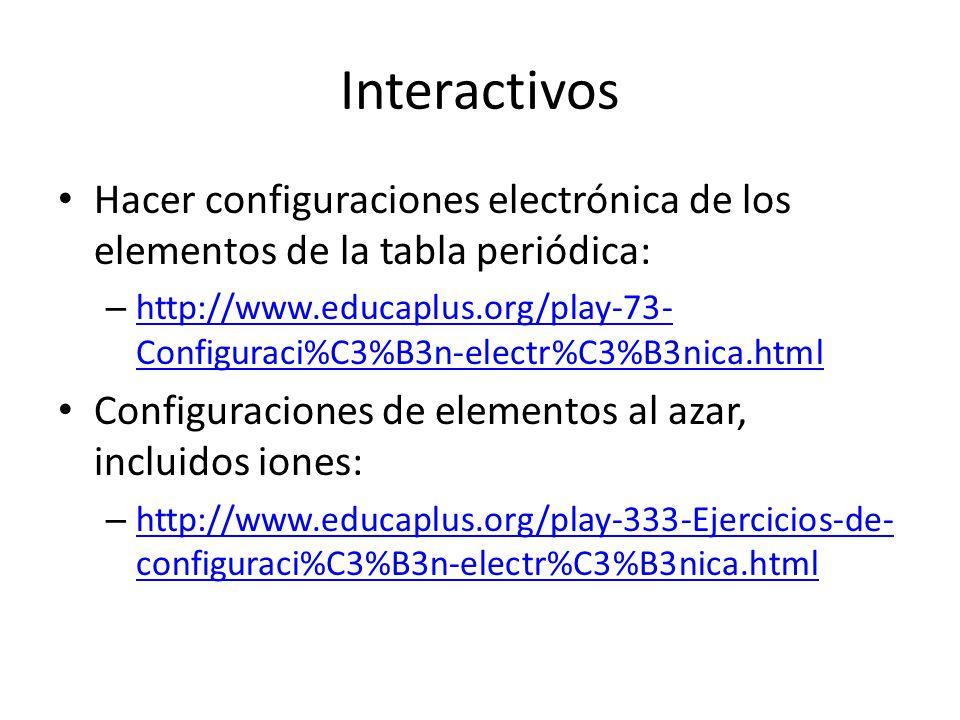 Configuraciones electrnicas ppt descargar 6 interactivos hacer configuraciones electrnica de los elementos de la tabla peridica configuraciones urtaz Gallery
