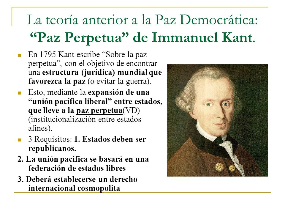 La Teora Anterior A Paz Democrtica Perpetua De Immanuel Kant