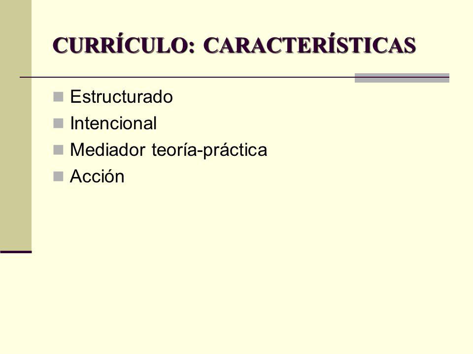 CURRÍCULO: CONCEPTO El currículo es un proyecto global, integrado y ...